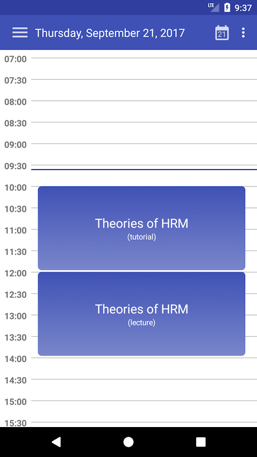 Wise Timetable- screenshot