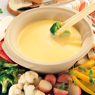 Cheesy Cheddar Fondue.
