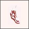 祥雲の錦靴