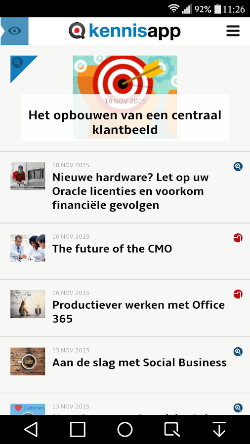 Management Kennisapp- screenshot