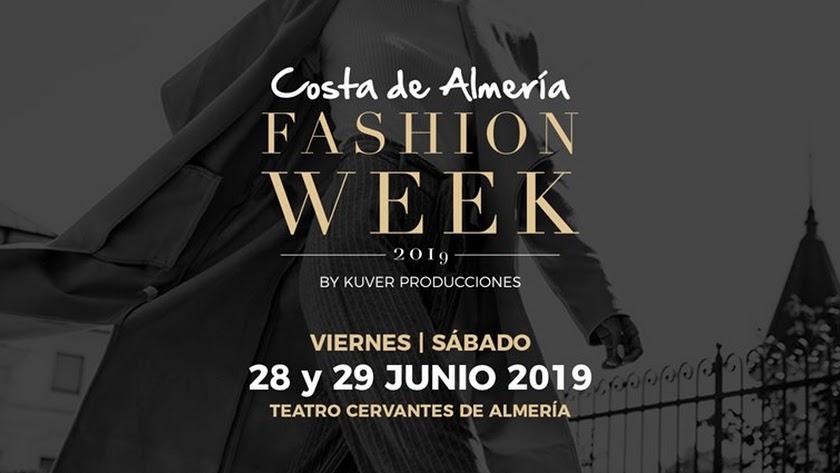 Cartel de Costa de Almería Fashion Week.