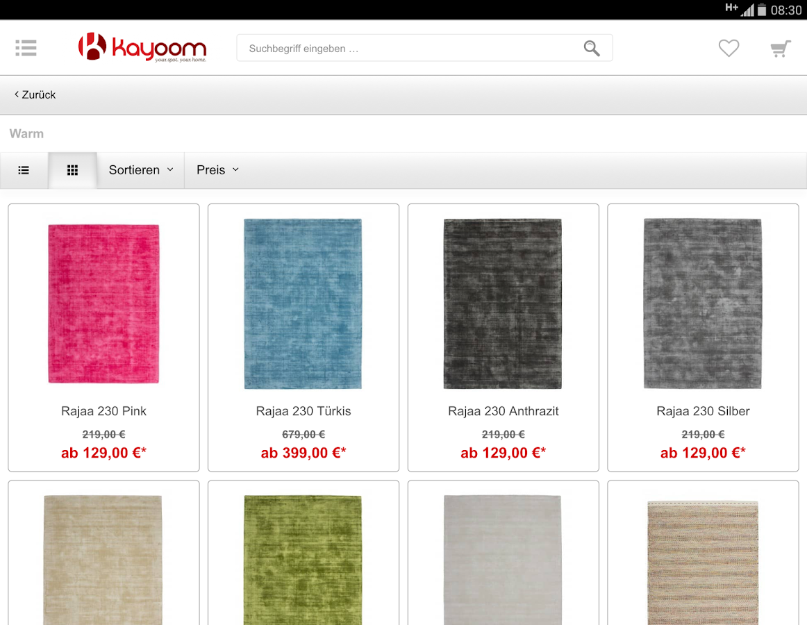 Kayoom  Teppich mobile Shop  Android Apps on Google Play