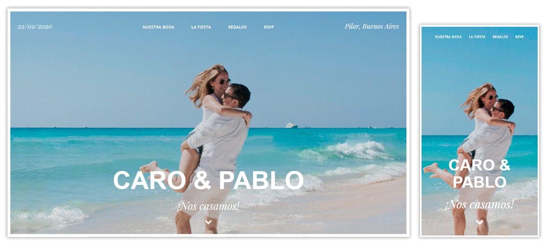 Sitio web Caro y Pablo