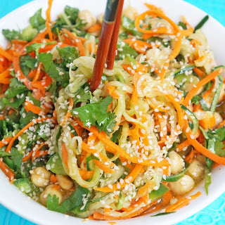 Sweet and Sour Cucumber Carrot Noodles [Vegan, Gluten-Free]