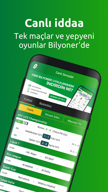 Bilyoner Canlı Sonuçlar Android App Screenshot