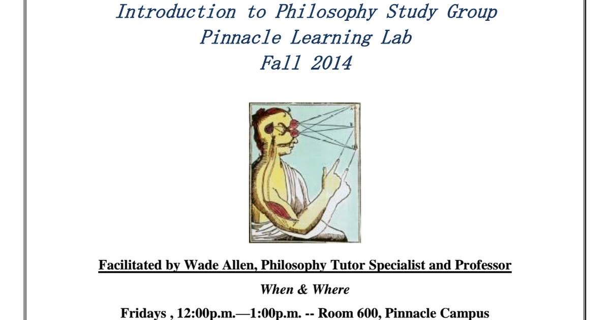 intro to philosophy study guide Study guide for the final paper topic these notes are intended to help you think about ways of tackling the question for the final paper topic in intro to philosophy (phil 1a.