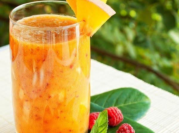 Peach And Raspberry Smoothie