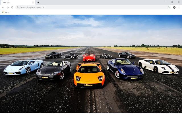 Sport Cars 2020 Custom New Tab