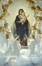 Photo: Title: The Virgin with Angels (Regina Angelorum) Artist: William-Adolphe Bouguereau Medium: Oil on canvas Size: 285 x 185 cm Date: 1900 Location: Musée du Petit Palais, Paris  http://iconsandimagery.blogspot.com/2009/07/virgin-with-angels.html