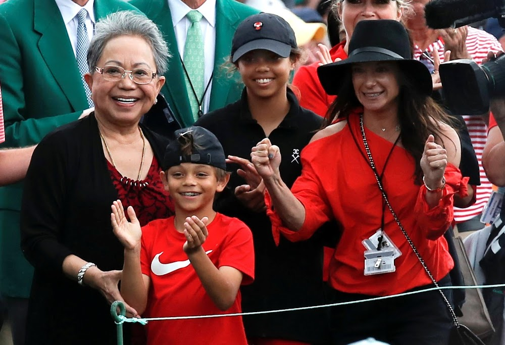 epic masters win a family affair for tiger as dad  son