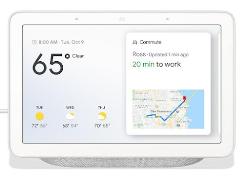 Google Nest Hub Smart Display with Google Assistant - Chalk