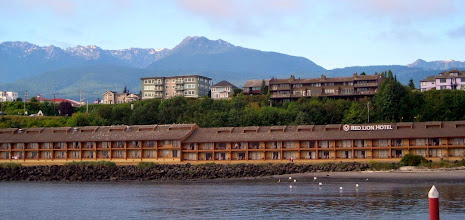 Photo: Our hotel in Port Angeles, on the water.
