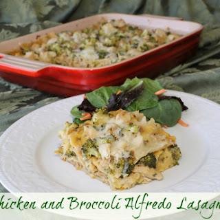 Chicken and Broccoli Alfredo Lasagna.