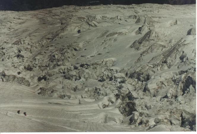 Mundi e Óscar no glaciar des Bossons