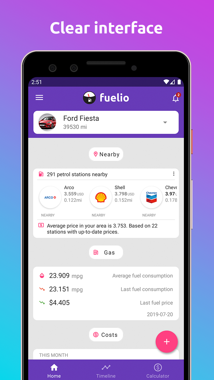 Fuelio: gas log, costs, car management, GPS routes Screenshot 0