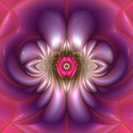 Flower design 5 by Cassy 67 - Illustration Abstract & Patterns ( digital, love, harmony, lovely, abstract art, abstract, fractals, digital art, flower, classic, modern, light, fractal, energy )