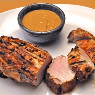 Grilled Pork Tenderloin, Peanut Sauce