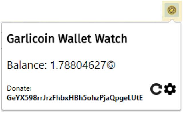 Garlicoin Wallet Watch