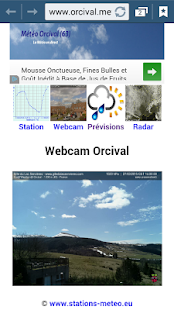 Météo Orcival (63)- screenshot thumbnail