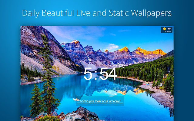 Live New Tab Page Customize Clocks To Do List Hundreds Of Live Backgrounds In Your Browser