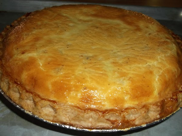Bake (on baking sheet) for 45 to 50 minutes at 375ºF. Top of quiche...