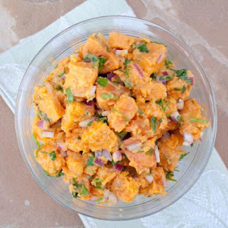Sweet Potato Salad with Agave Mustard Dressing