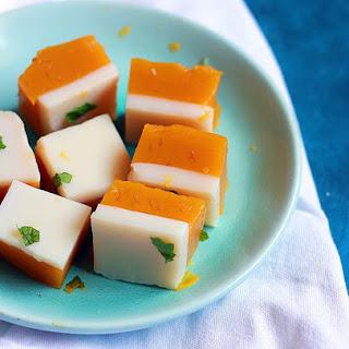 Mango Coconut Jelly Recipe   Mango Agar Agar Jelly Recipe