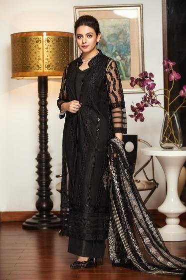 42101461-Embroidered Net & Silk Luxury Unstitched-3PC