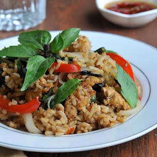 Thai Basil Fried Rice | Khao Pad Horapa | ข้าวผัดโหระพา