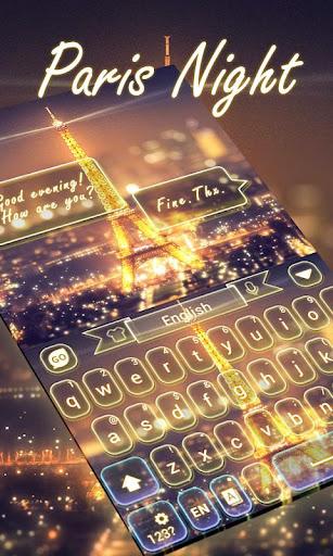 Paris Night GO Keyboard Theme