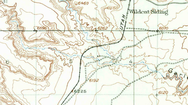 1914 topo map showing a structure near Garley Wash