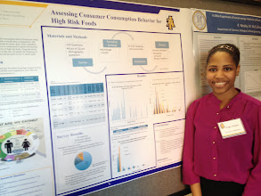 Photo: M.S. student Megan Watkins at 2014 COE Poster Competition