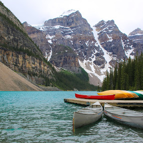 Moraine Lake by Silvana Schevitz - Landscapes Waterscapes ( national park, mountains, nature, lakes, travel,  )