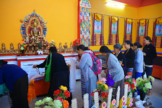 Photo: Bon followers from the village surrounding Menri Monastery came to celebrate Sowa Rigpa Medical Institute's grand opening event on May 13, 2014.