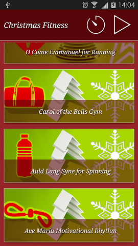 android Christmas Fitness Holidays Screenshot 1