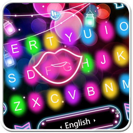 Colorful Sparkling Light Keyboard Theme