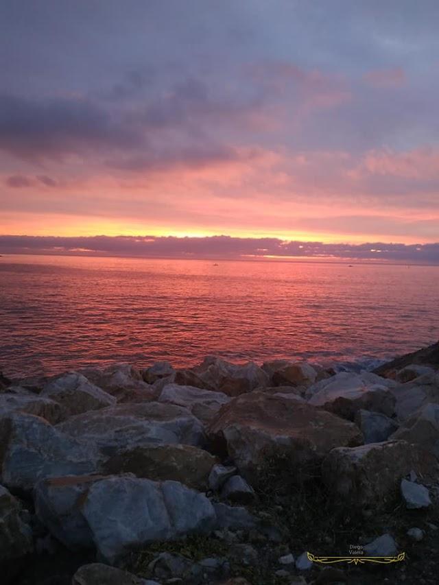 Imagen del amanecer tomada desde la costa Carbonera por Diego Valera.