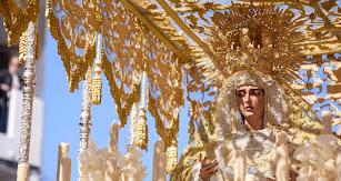 María Santísima de Los Ángeles, en el Domingo de Ramos de 2019.