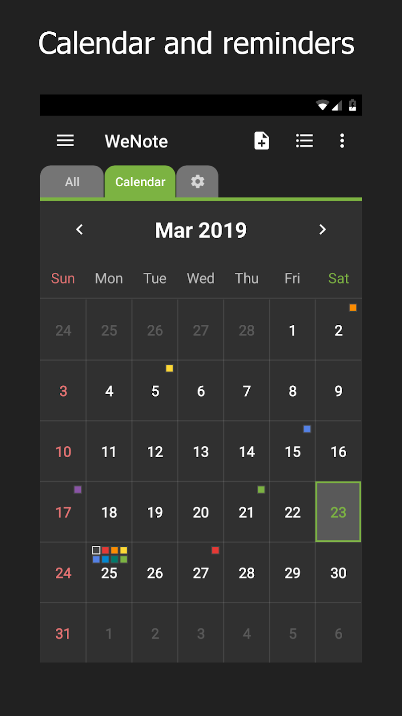 WeNote - Color Notes, To-do, Reminders & Calendar Screenshot 1