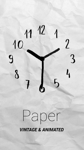 Paper Watch Face