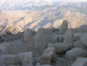 Photo: Western terrace of Mt Nemrut with stunning mountain scenery