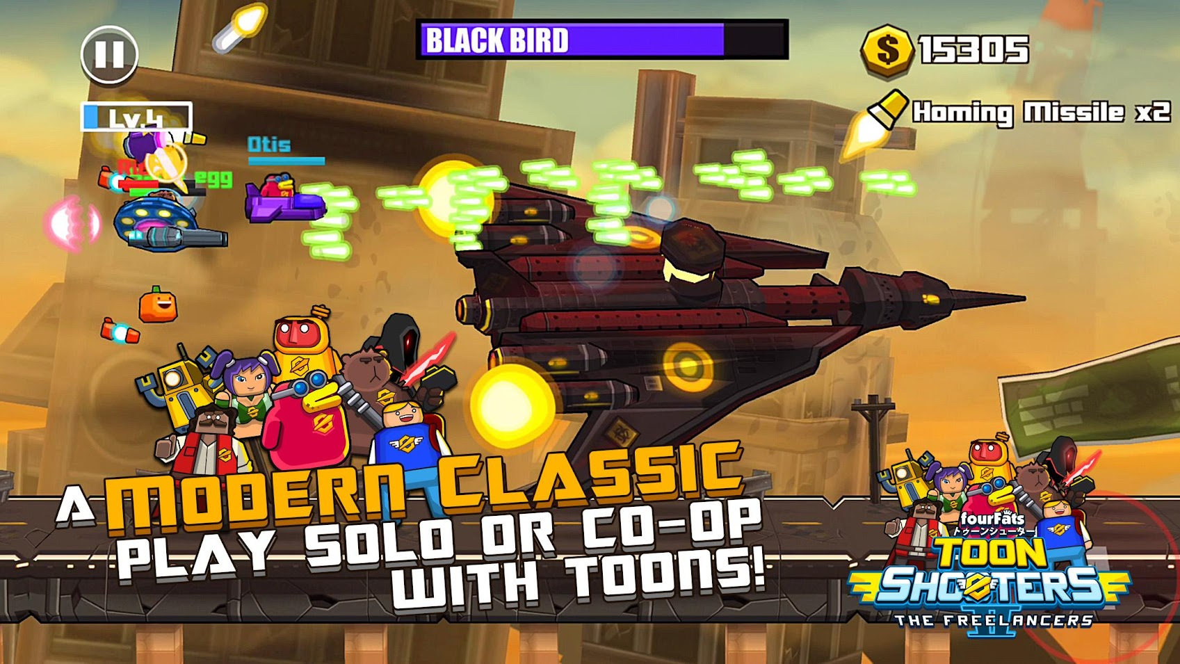 Game Toon Shooters 2: Arcade Side-Scroller Shooter Mod Free Download  /