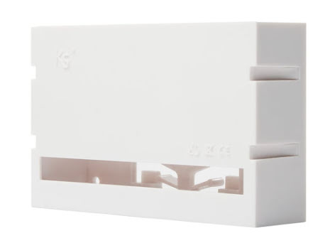 Plastkapsling till auxi/divide för DIN-skenemontage
