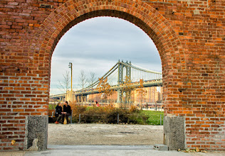 Photo: Just when you thought I was done posting about bridges :)  #newyorkcity  #nyc  #dumbo  #manhattanbridge