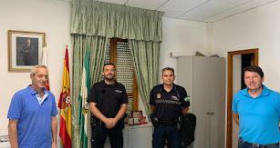 Responsables de la Policía Local en el municipio.