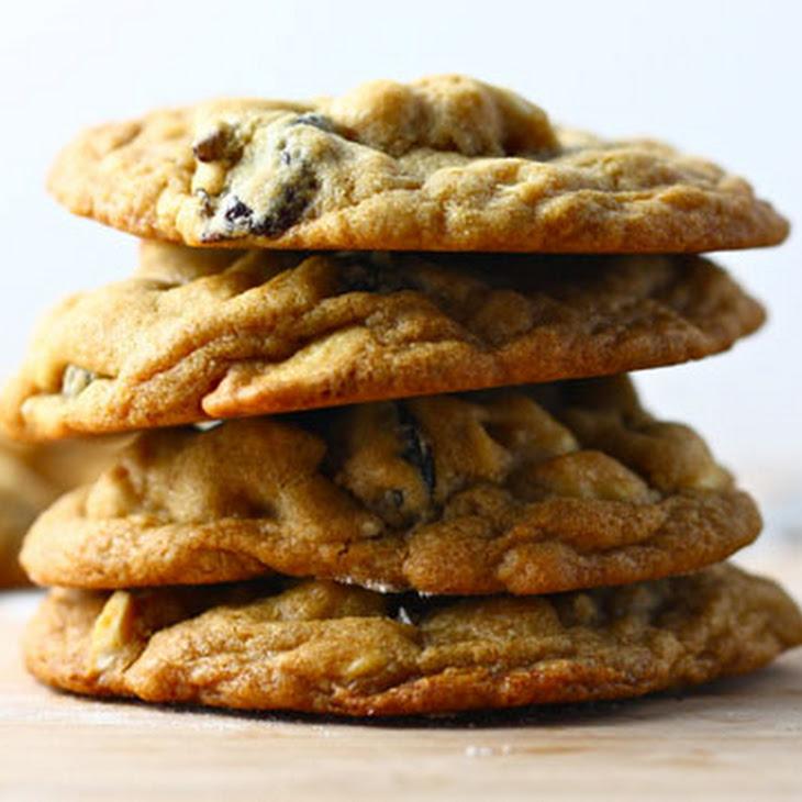 White Chocolate Chip Cookies with Cherries and Cashews Recipe