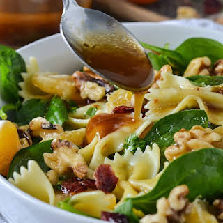 Mandarin Orange and Spinach Pasta Salad.