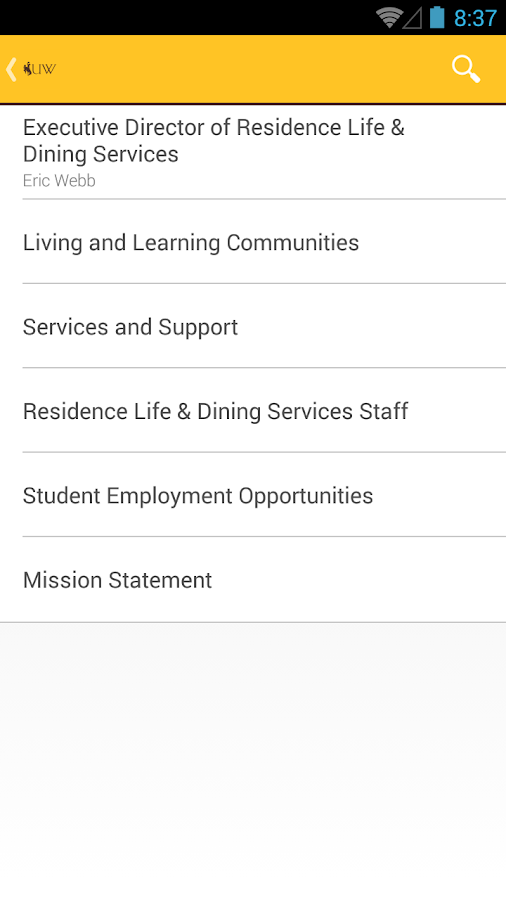 University of Wyoming Guide- screenshot