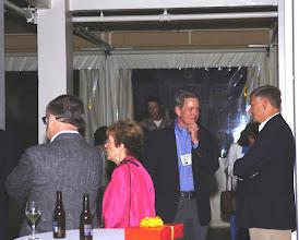 Photo: John Albi and Valerie Vaughan Albi, '56, Tupper Pettit, and Dick Croxall