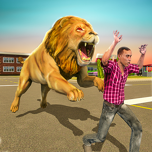 Angry Lion Sim City Attack